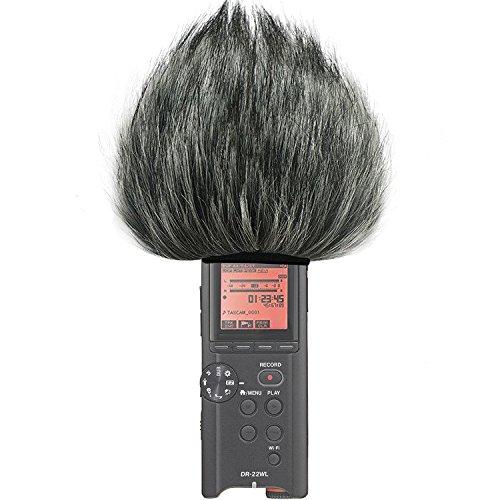First2savvv TM-22WL-C01 Micrófono Externo Peludo Parabrisas Manguito Para Grabadores digitales para Tascam DR-22WL