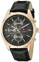 Tommy Hilfiger Mens 1791125 Sport Lux Analog Display Quartz Black Watch