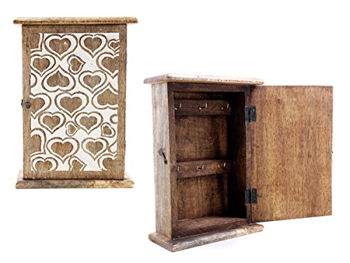 7 : Store Indya Key Cabinets Box Holder Organizer Wooden Storage Wall Mounted Box (7)