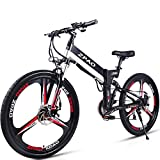 GTYW 26 Pulgadas Bicicleta Plegable Eléctrica Bicicleta De Montaña Adulto Bicicleta Eléctrico Litio Adulto Plegable Mini...