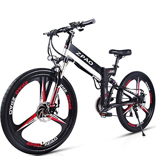 GTYW 26 Pollici Pieghevole Bicicletta Elettrica Mountain Bike Adulto Bici Elettrica Al Litio Adulto Pieghevole Mini Moto Elettrica 90 Km Di Durata Della Batteria,Black-180*102*65cm
