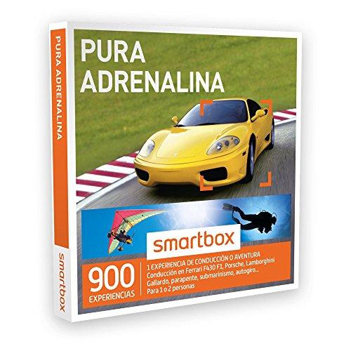 SMARTBOX – Caja Regalo – PURA ADRENALINA – 900 actividades de aventura como conducción en Ferrari, parapente, submarinismo…