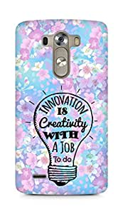 Amez Innovation is Creativity with a Job to do Back Cover For LG G3