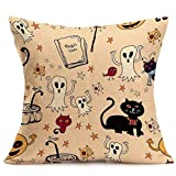 SEWORLD Happy Halloween Kissenbezüge Leinen Sofa Kissenbezug Home Decor G