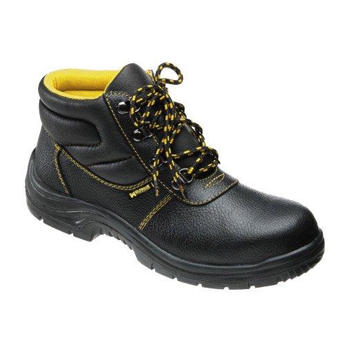 Wolfpack 15018045 - Botas seguridad piel, tamaño 45, color negro