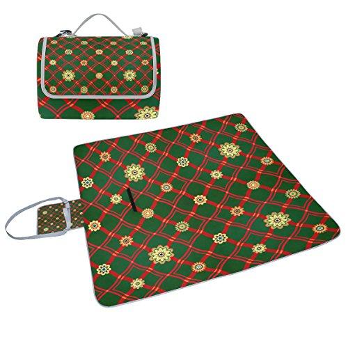 COOSUN geometrischen Ornament Picknick Decke Tote Handlich Matte Mehltau resistent und wasserfest Camping Matte für Picknicks, Strände, Wandern, Reisen, Rving und Ausflüge