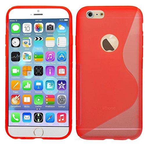 SAMRICK S Wave Coque de protection en hydrogel pour Apple iPhone 6 Blanc/6S Rouge