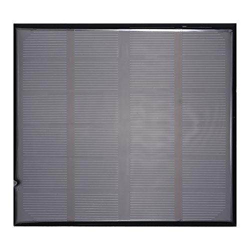 Zerodis Solarladegerät, 6 V, 2 W, hocheffizient, Polykristallin-Silikon-Solarpanel, Mini-DIY-Solarstrom-Akku-Ladegerät für 3,7 V Akku