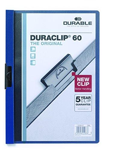 Durable 220907 Klemm-Mappe Duraclip Original 60, 25 Stück dunkelblau