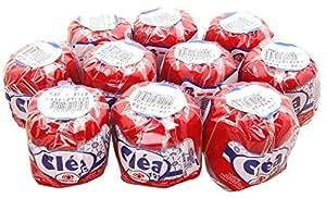 Lot de 10 pelotes de fil à crochet 100% coton mercerisé rouge