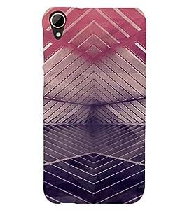 PrintVisa Modern Art Pattern 3D Hard Polycarbonate Designer Back Case Cover for HTC Desire 828