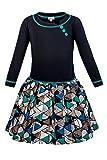 La-V Mädchenkleid Schwarz-Grün/Größe 146