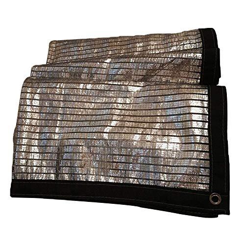 Kzf Sonnenschutz reflektierende Gewächshausabdeckung Metallschnalle Aluminiumfolie, Sonnenschutznetz Balkon Sonnenschutz,1x1m -