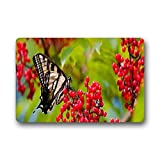 DOUBEE Neu Mode Design Schmetterling Butterfly Fussmatte Schmutzmatte Haus Fußabstreifer 46cm X 76cm