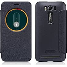 TopAce High quality PU cuero funda flip cover caso para Asus ZenFone 2 Laser(ZE500KL) (Negro)