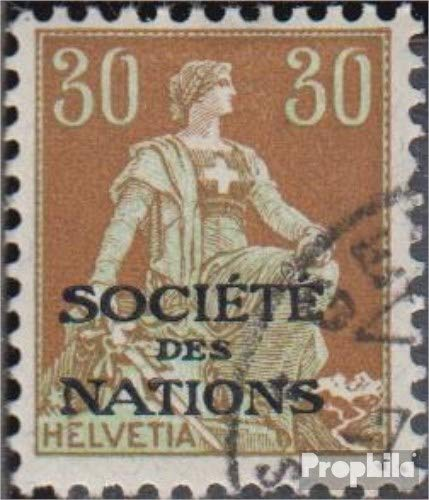 Prophila Collection Schweiz SDN6 1922 Völkerbund (Briefmarken für Sammler)