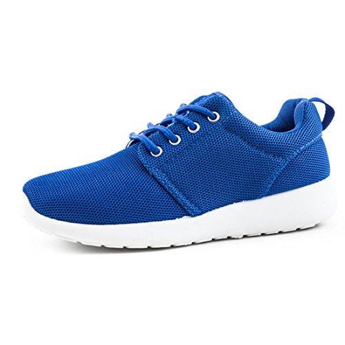 Unisex Damen Laufschuhe Schnür Sneaker Sport Fitness Turnschuhe Royal 37
