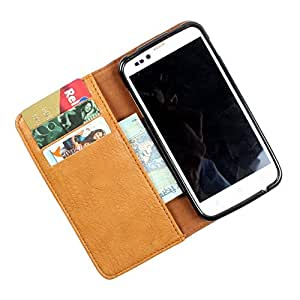 For Lava iris 455 - PU Leather Wallet Flip Case Cover