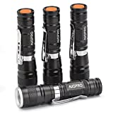 AUOPRO Small LED Torches Pack of 4, Super Bright Waterproof Pocket LED Flashlight