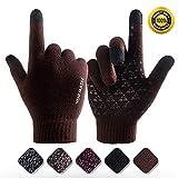 VENI MASEE Winter Warm Touchscreen Handschuhe für Frauen Männer stricken Wolle gefüttert Texting