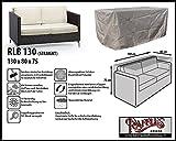 RLB130straight Hülle für Lounge Bank, Rattan Gartensofa oder Lounge Sofa, 2 Personen, passt am besten am Sofa von max. 130 x 75 cm. Schutzhüllen für Bank, Schutzhülle für Lounge Bänke, Abdeckhaube Schutzhülle Schutz-Plane für gartenbank gartensofa