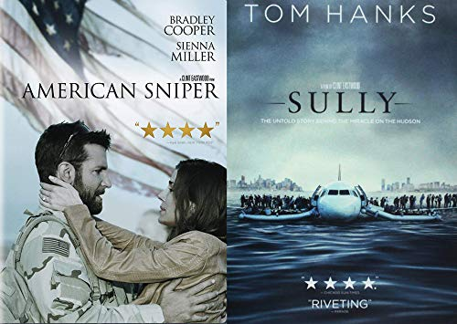All American Heroes Uncle Clint Eastwood's Sully and American Sniper 2 DVD Bundle