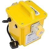 Draper 1,5kVA 240V à 110V avec transformateur Step Down Outil d'alimentation portable site 2x prises 16A