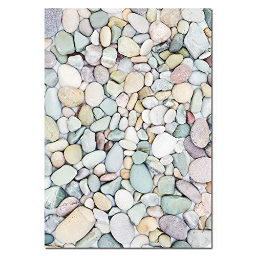 zgmtj Sonnenuntergang Ozean Stein Skandinavischen Poster Nordic Print Tropical Seascape Wandkunst Leinwand Malerei Natur Bild Wohnzimmer Dekor