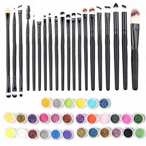 Fard à Paupières Pigments Couleur Aléatoire La Valeur + Set De Maquillage Fard à Paupières Lèvres Eyeliner Pinceau