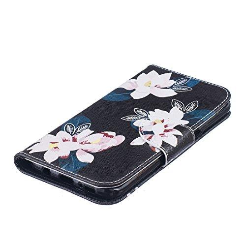 iPhone 6/6S Coque New York City, Lotuslnn Apple 6/6S Cuir Coque Wallet Case Etui Housse( Coque+ Stylus Stift+Screen Protector) Gardenie