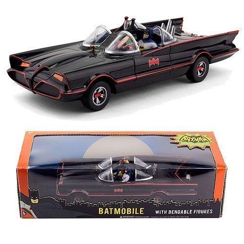 1966 Batmobile W Batman & Robin Mini Bendable Figs by NJ Croce by NJ Croce (Batman Und Robin Batmobil Spielzeug)