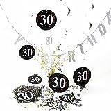 Geburtstagsdeko, Tisch-Deko, Set 30. Geburtstag | knuellermarkt.de | Girlande, Serviette, Dekoration, gedeckter Tisch, Konfetti