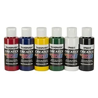 Createx Colors 5801-00 Airbrush Paint Set, 2 Ounce, Multicolor