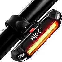 Luce Posteriore Bici USB Ricaricabile, LED Bicicletta Luce Fanale Posteriore Bici 6 Modalità di Luce, Resistente all' Acqua, Adatto per TUTTE le Biciclette e Caschi per Ottimale Ciclismo Sicurezza