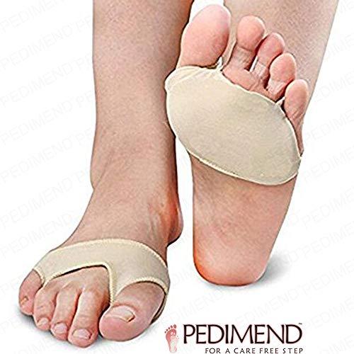 PEDIMEND Metatarsalgie-Einlagen für Mittelfußknochen, 4 Stück, Gelpolster-Ballenkissen, für Überlappungen großer und kleiner Zehe, absorbiert Stöße und Reibungen, Fußpflege -