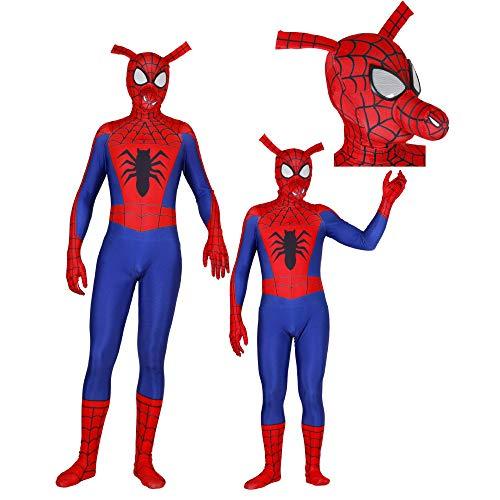 SHANGN Thema Party Kinder Erwachsenenfilm Cosplay Kostüm | Variation Spiderman 3D-Druck Spandex Dress Up Bodysuit,Adult-XL