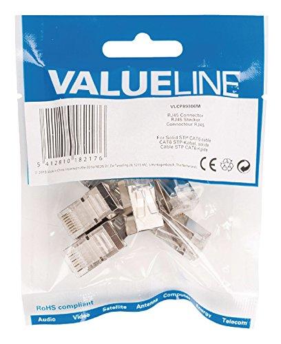 Valueline VLCP89306M RJ45 Stecker für STP CAT6 Kabel mit festen Innenleitern (Cat6 Festes Kabel)