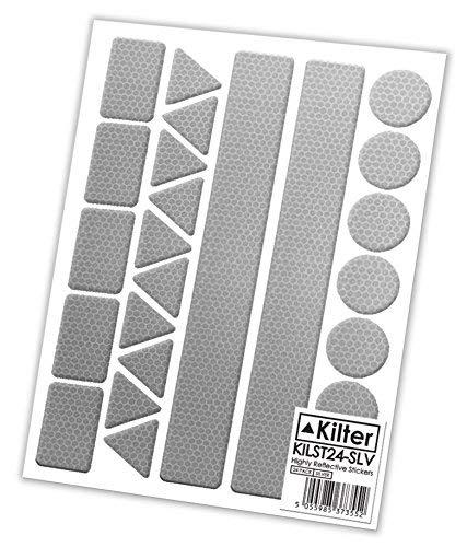 Reflektierende Sicherheitsaufkleber von Kilter, silber, 2 Sets (48 Stickers)