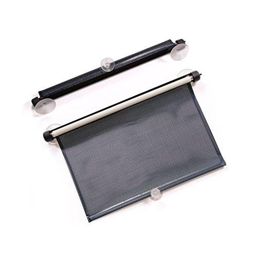 Preisvergleich Produktbild Store Sonnenblende Gurtwickler Saugnapf für Heckscheibe oder Seitlicher Auto schwarz 45cm–684