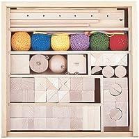 Objekte nach 1945 SINA Stäbchen legen Spiel Kreatives Spielzeug Legestäbe NEU Holz Spielwaren