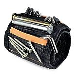 Magnetisches Armband YYGIFT Magnetarmband mit 10 Starken Magneten Ablagetaschen Halten von Werkzeugen Schrauben Nägel Bohren Bits Kleinwerkzeuge Scheren Beilagscheiben usw.