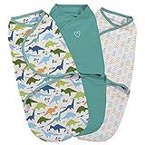 SwaddleMe ** 3er SparPack - Original Swaddle ** Pucksack/Schlafsack für unruhige Babys und Schreibabys (Origami Dino)