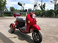 3 colors Stylish Retro TRICYCLE ELECTRIC MOBILITY RECREATIONAL 3 wheel SCOOTER Adult ROAD LEGAL ECC Vespa E-Scooter Alarm 60V 100AH 650W 15mph