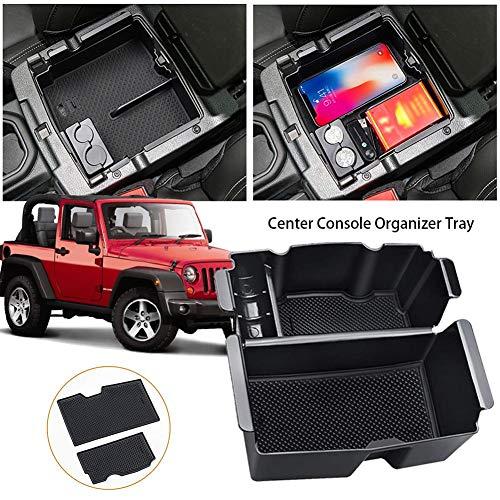 Beaviety Auto Aufbewahrungsbox Car Center Console Aufbewahrungsbox Split Aufbewahrungsbox Für Jeep Wrangler JL 2018-2019 Jeep Gladiator JT Truck (2020)