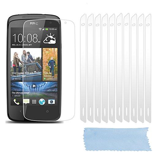 Cadorabo DE-102233 Bildschirmschutzfolien für HTC Desire 500 10 Stück hochtransparenter Schutzfolien gegen Staub, Schmutz & Kratzer High Klar