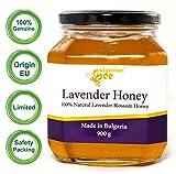 900 g Miel de fleurs de Lavande, non chauffé, non pasteurisé, brut, réel, directement de la ruche, miel unique Bulgare (UE), édition limitée