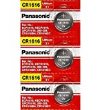 Panasonic 3x Battery - CR1616 3V 3 Volt Lithium Coin Size Battery