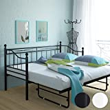 pkline metallbett in wei ausziehbar k che haushalt. Black Bedroom Furniture Sets. Home Design Ideas