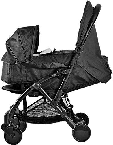 Pack Duo Nacelle Trinity 2 Kinderwagen (0-3 Jahre), ultraleicht, 5,5kg, ultrakompakt, Gepäck, Flugzeug, weiche Transporttasche, 2 kg, zusammenklappbar, 0/9 kg, Schwarz