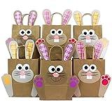 Sacchetti DIY con coniglietto pasquale XXL - sacchetti di Pasqua colorati da riempire a piacere - per confezionare regali per bambine e adulti.